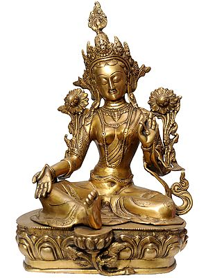 Seated Green Tara (Tibetan Buddhist Deity)