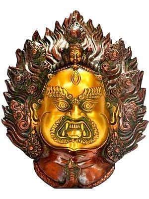 Three-eyed Mahakala Bhairava Wall-hanging Mask