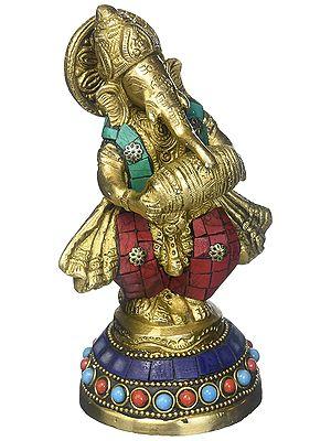 Ganesha Happily Thumping Away At The Tambour