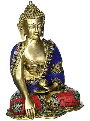 Seated Buddha, His Hand In Bhumisparsha Mudra