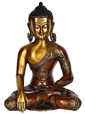 Dula-tone Buddha, His Slender Hand In Bhumisparsha Mudra