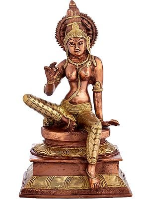 Seated Parvati, Her Limbs Long And Graceful