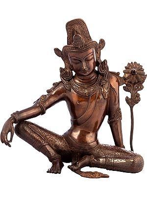 Avalokiteshvara, Seated And Pensive