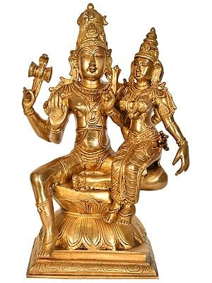 Shiva With His Wife, Parvati, By His Side