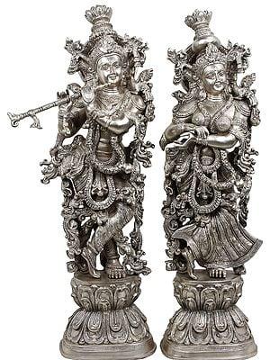 Mirthful Radha-Krishna