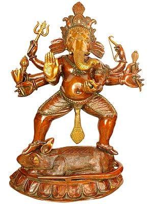 Ashtabhujadhari Yuddha Ganesha