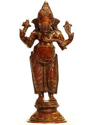 Dhoti-clad Ekdanta Ganesha, Standing