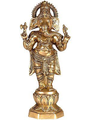 Standing Chaturbhuja Ganesha
