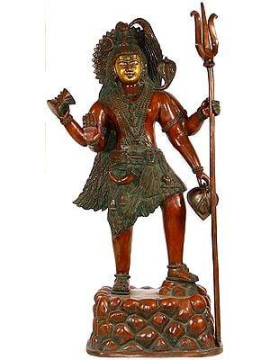 Shiva Standing Atop Mount Kailasha