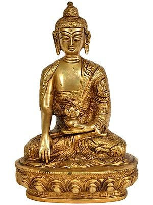 The Resplendent Buddha, His Hand In Bhumisparsha Mudra