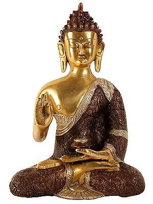 Shakyamuni, His Hand In Abhaya Mudra