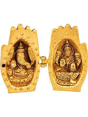 Ganesha-Lakshmi In Two Different Shrines