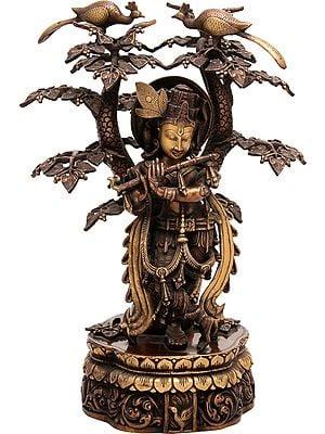 Lord Krishna Under The Kadamba Tree