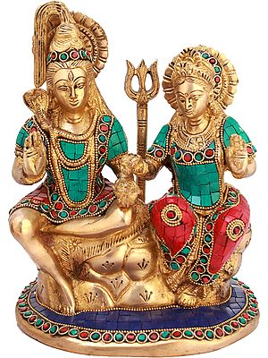 Shiva-Parvati Seated on Kailasha