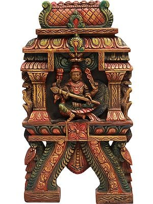 The Warrior God Karttikeya (Wall Hanging)