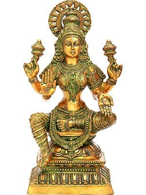 Large Size Seated Goddess Lakshmi