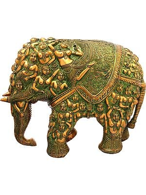 Elephant Made of Lady Figures (Nari Kunjar)