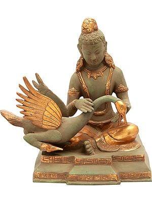 Tibetan Buddhist Deity Siddhartha Nursing the Wounded Swan (Kindness Personified)