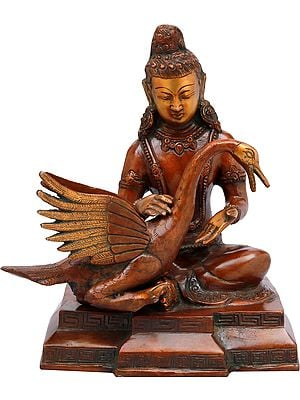 Tibetan Buddhist Deity Siddhartha Nursing the Wounded Swan (Kindness Personified)