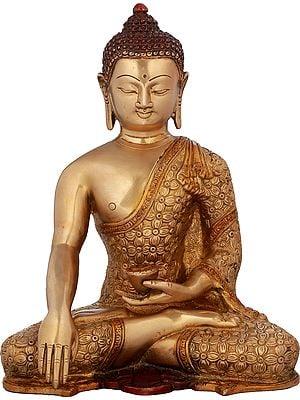 Bhumisparsha Buddha in Intrinsic Carved Robe