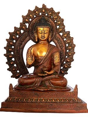 Blessing Buddha Seated on Fine Throne