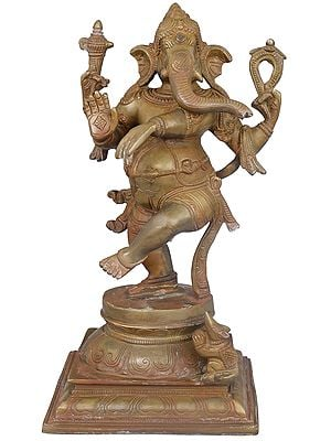 Adorably Dancing Ganesha