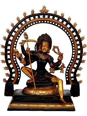 The Invincible Kali, Seated Under A Flaming Prabhavali