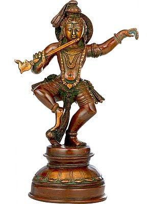 Dancing and Fluting Krishna