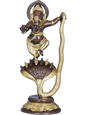 Lord Ganesha Dancing on Sheshnag