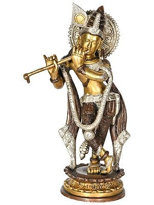 Krishna, Making Divine Music On His Flute