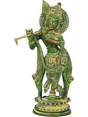Krishna, Making Divine Music On His Flute