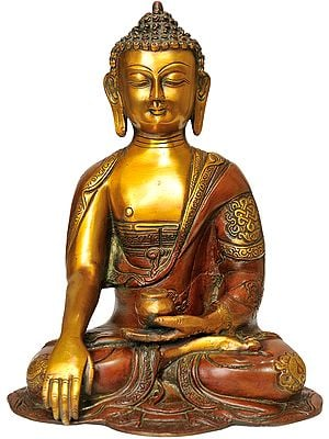 The Contented Buddha, His Hand In Bhumisparsha Mudra