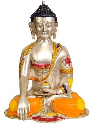 The Contented Buddha, His Hand In Bhumisparsha Mudra - Tibetan Buddhist