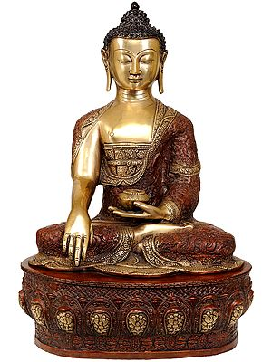 The Stately Buddha, His Hand In Bhumisparsha Mudra