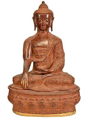 The Stately Buddha, His Hand In Bhumisparsha Mudra