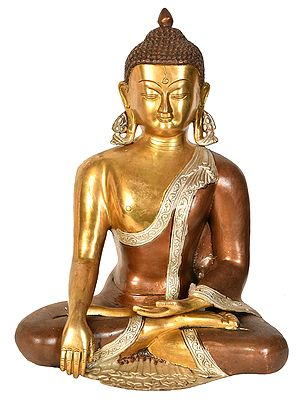 The Buddha, Of Calm Composure Of Countenance, His Hand In Bhumisparsha Mudra