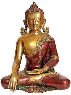 Dual-tone Buddha, His Hand In Bhumisparsha Mudra