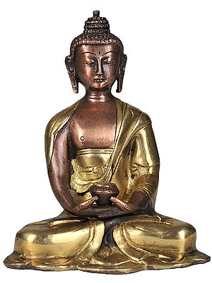 The Stately Meditating Buddha, His Robes Flowing About Him