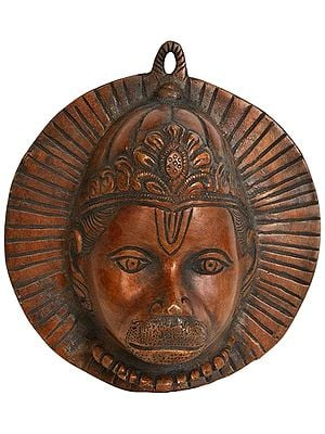 Fierce Hanuman Mask Wall-hanging