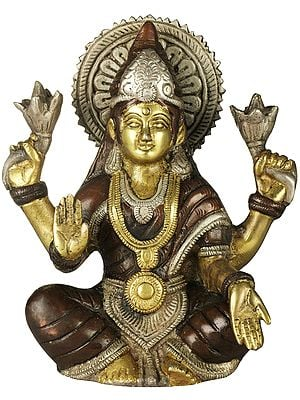 Seated Lakshmi, The Power Of Her Halo Spreading In All Directions