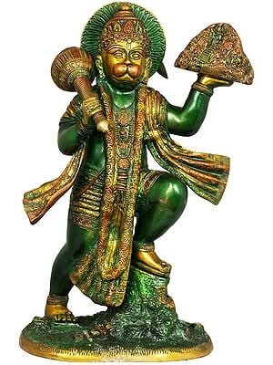 The Determined Hanuman, Having Lifted The Might Mount Dron