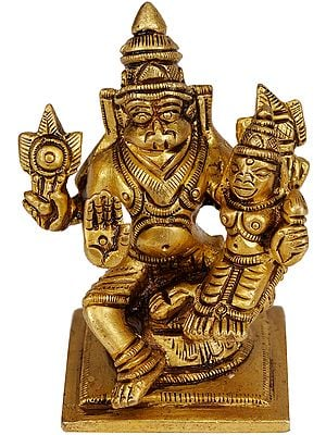Narasimha, Seated With Lakshmi