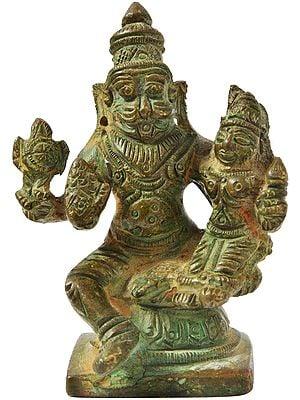 Narasimha, Seated With Lakshmi
