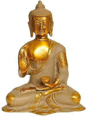 The Resplendent Buddha, His Hand In Vitarka Mudra