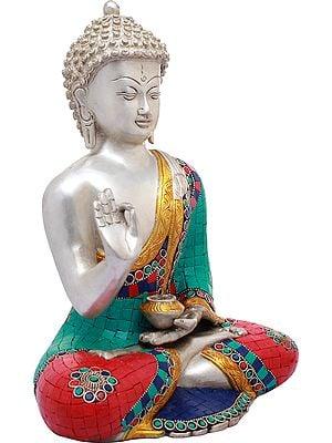Shakyamuni Buddha in Preaching Mudra - Tibetan Buddhist