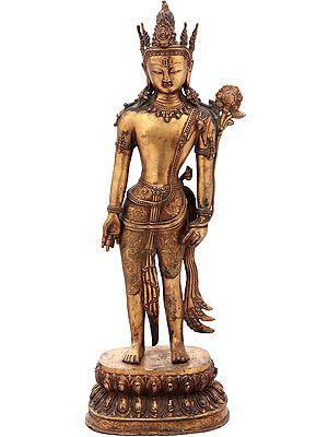 Avalokiteshvara Wearing a Five Crested Crown