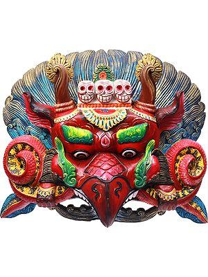 Tibetan Buddhist Large Garuda Wall Hanging Mask (Made in Nepal)