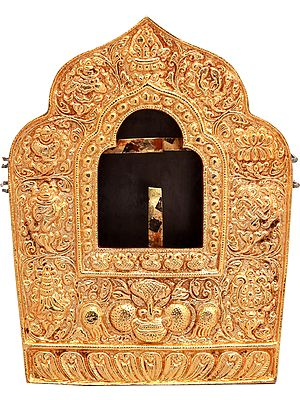 Tibetan Buddhist Large Gau Box from Nepal