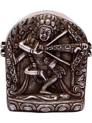 Tibetan Buddhist Goddess Kurukulla Gau Box (Portable Shrine) - Made in Nepal