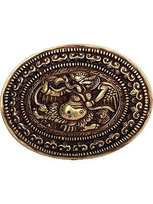 (Made in Nepal) Garuda Belt Buckle - Tibetan Buddhist